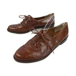 Salamander France Leather Lace Up Oxford Flats 39